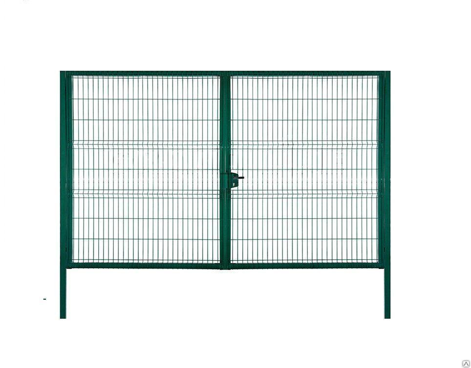 Ворота свар с полимерным покрытием Сітка Захід  высота 2.05м длина 4м компл столбы навесы зад (0927)