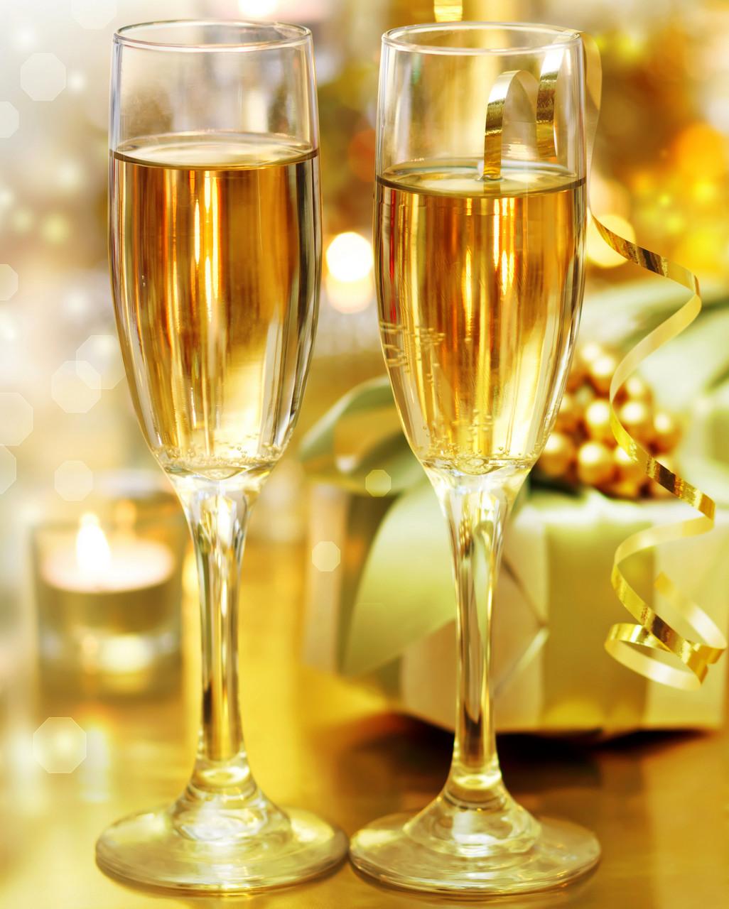 "Картина на стекле ""Два бокала с шампанским"""