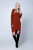 SEWEL Платье PW405 (42-44, терракот, 60% акрил/ 30% шерсть/ 10% эластан)