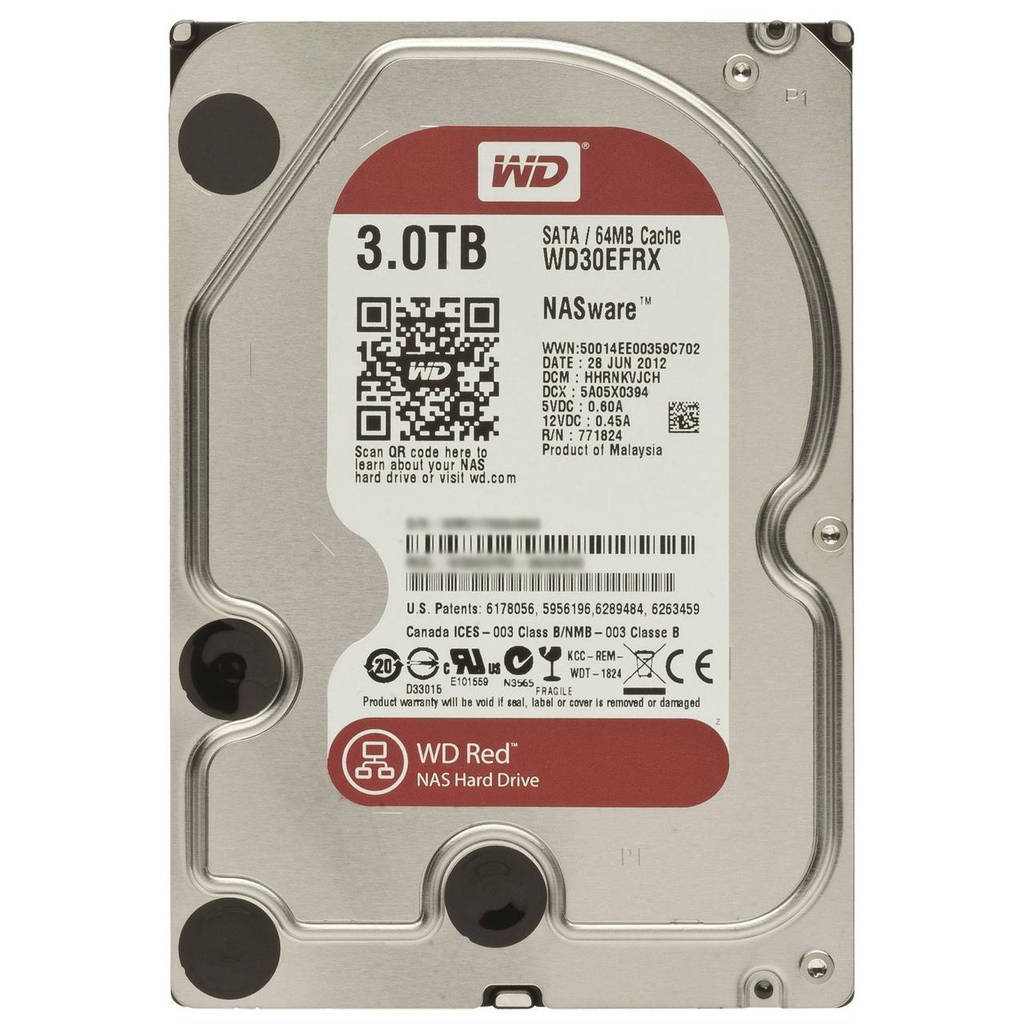 HDD SATA 3.0TB WD Red 5400rpm 64MB (WD30EFRX)