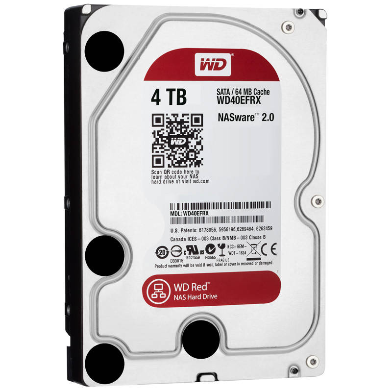 HDD SATA 4.0TB WD Red 5400rpm 64MB (WD40EFRX)