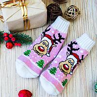 Дитячі шерстяні шкарпетки (22-25розмір), фото 1