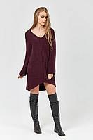 SEWEL Платье PW405 (42-44, брусничный, 60% акрил/ 30% шерсть/ 10% эластан)