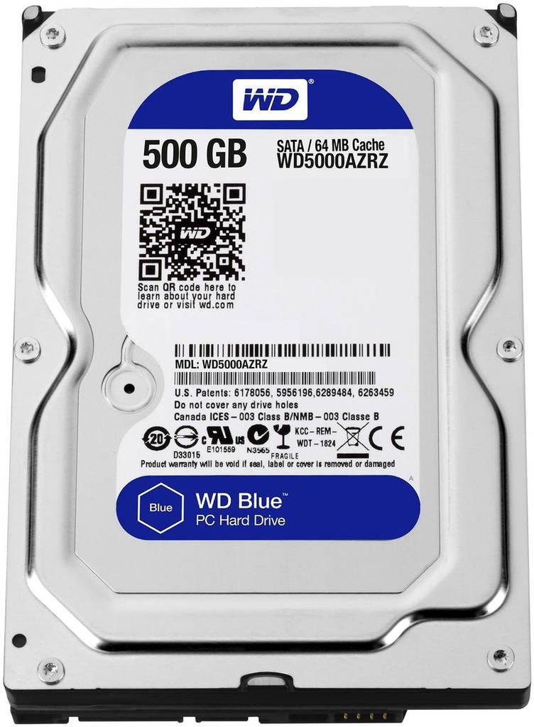 HDD SATA  500GB WD Blue 5400rpm 64МB (WD5000AZRZ)