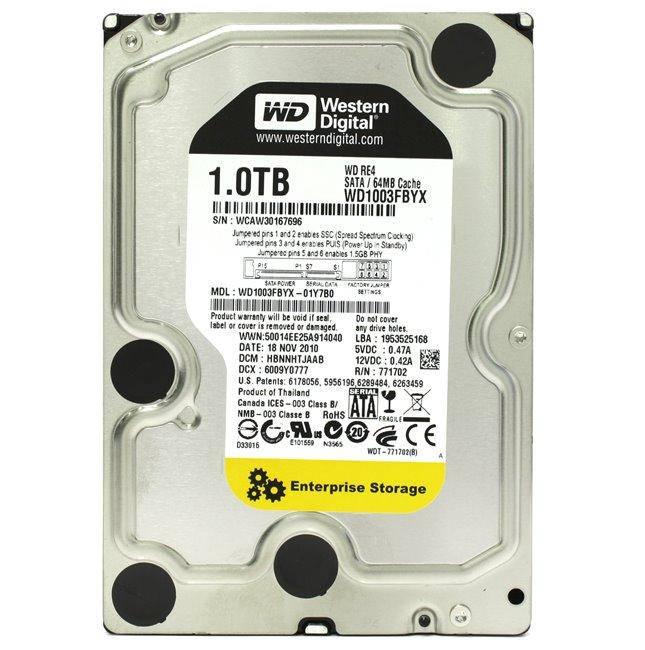 HDD SATA 1.0TB WD RE4 7200rpm 64MB (WD1003FBYX) гар. 12 мес.
