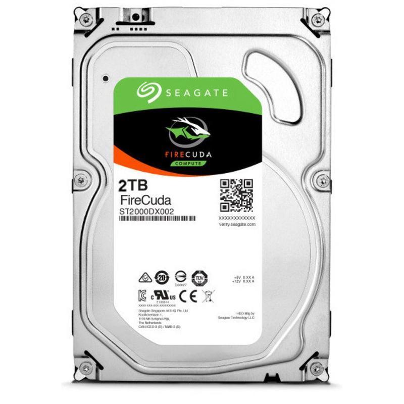 Накопитель HDD SATA 2.0TB Seagate FireCuda SSHD 7200rpm 64MB (ST2000DX002)