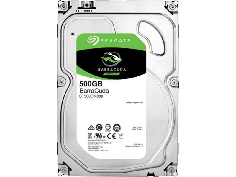 Накопитель HDD SATA  500GB Seagate BarraCuda 7200rpm 32MB (ST500DM009)
