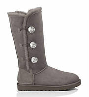 "Оригинальные Угги UGG Bailey Button Triplet Bling ""Grey"""