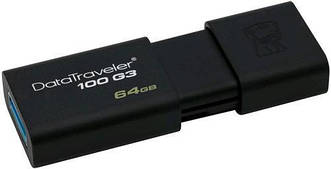 Флеш-накопитель USB3.0 64GB Kingston DataTraveler 100 G3 (DT100G3/64GB)