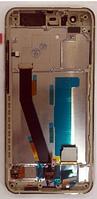 Дисплей (экран) для Xiaomi Mi6 + тачскрин, белый, с передней панелью