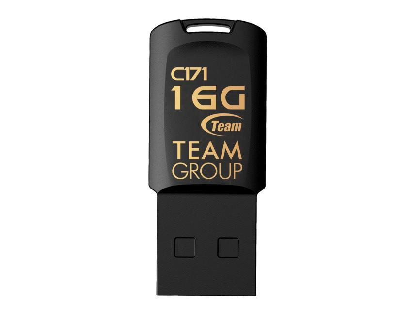 Флеш-накопитель USB 16GB Team C171 Black (TC17116GB01)