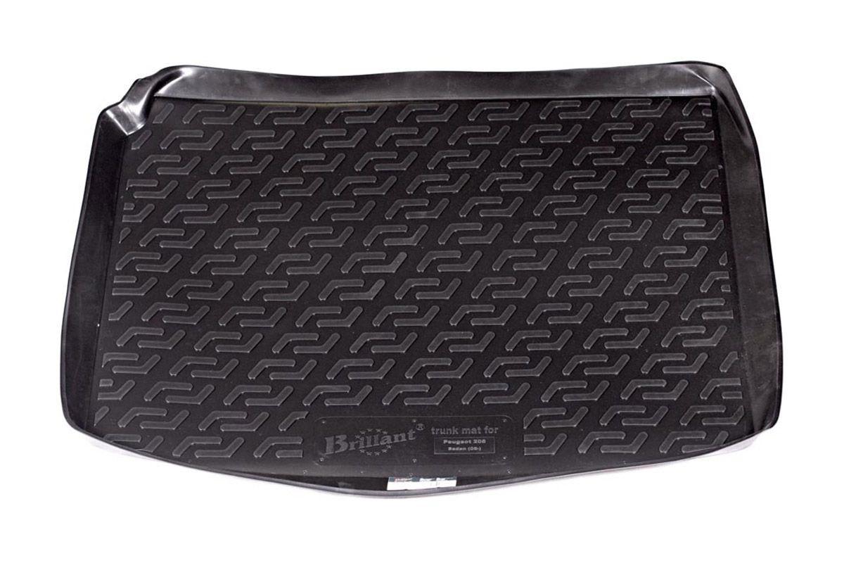 Коврик в багажник для Peugeot 206 SD (06-09) 120040100