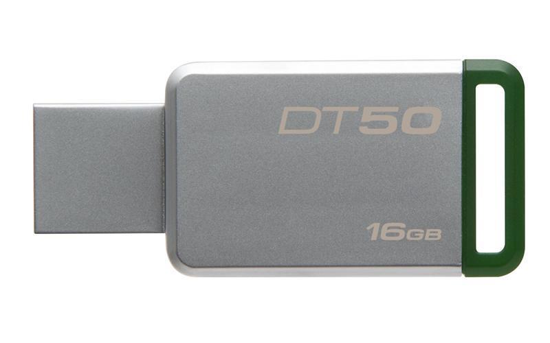 Флеш-накопитель USB3.0 16GB Kingston DataTraveler 50 Metal/Green (DT50/16GB)