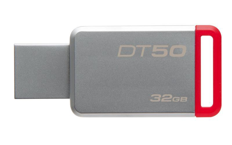 Флеш-накопитель USB3.0 32GB Kingston DataTraveler 50 Metal/Red (DT50/32GB)