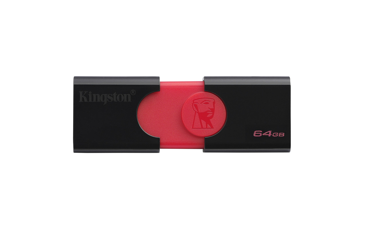Флеш-накопитель USB3.1 64GB Kingston DataTraveler 106 Black/Red (DT106/64GB)