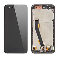 Дисплей (экран) для Xiaomi Mi6 + тачскрин, черный, с передней панелью