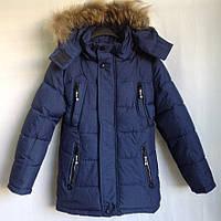 """Куртка зимняя """"Its Good"""" #7-628  для мальчиков. 8-9-10-11-12 лет (128-152 см). Синяя. Оптом, фото 1"""