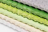 Набор отрезов плюша минки серо-зелёных оттенках из 6 шт (18*30) №72, фото 3