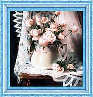 """Алмазная вышивка """"Розы в вазе"""""""