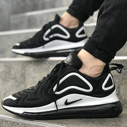 """Кроссовки Nike Air Max 720 """"Black/White"""" (Черные/Белые), фото 2"""