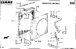 Радиатор водяной комбайна CLAAS MEGA 204, фото 3