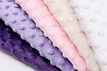 Набор отрезов плюша минки в молочно-фиолетовых тонах из 5 шт (18*30) №66, фото 2