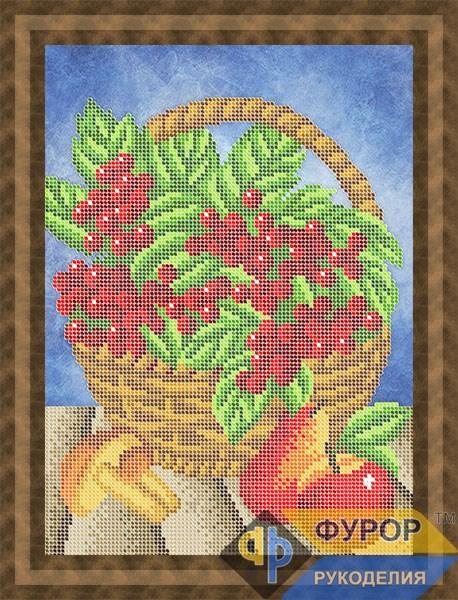 Схема для вишивки бісером картини Кошик з калиною (НБч4-131)