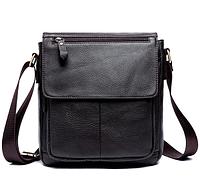 Мужская кожаная сумка из натуральной кожи MVA на ремне. Сумка-барсетка.