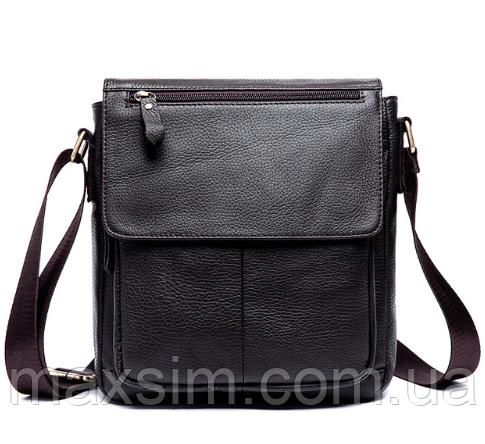 a12ac406d7a8 Мужская кожаная сумка из натуральной кожи MVA на ремне. Сумка-барсетка. -