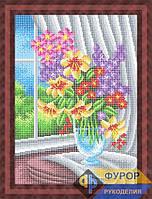 Схема для вышивки бисером - Цветы в вазе у окна, Арт. НБп3-146