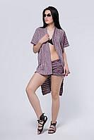 SEWEL Шаль HS426 (One Size, марсала, темно-бежевый, розовый, 50% хлопок/ 50% акрил)