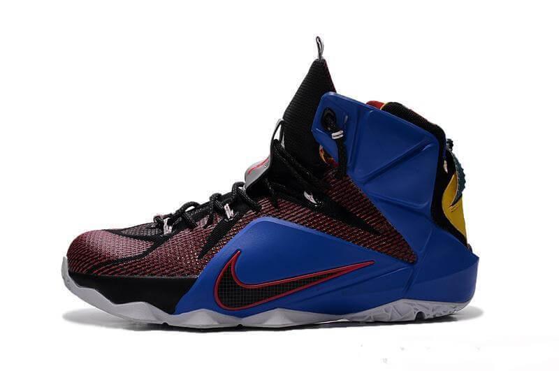 Баскетбольные Кроссовки  Lebron 12 Black Blue