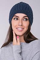 SEWEL Шапка BW456  (One Size, джинс, 60% акрил/ 30% шерсть/ 10% эластан)
