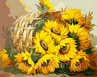 Картина по номерам ArtStory Корзина подсолнухов 40 х 50 см (арт. AS0237)