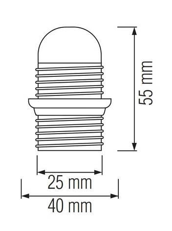 Патрон для ламп E14 HL587, фото 2