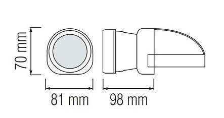 Налобный светодиодный фонарь Horoz Electric BECKHAM-1 1Вт 100Лм 7000-9000К (084-007-0001-010), фото 2