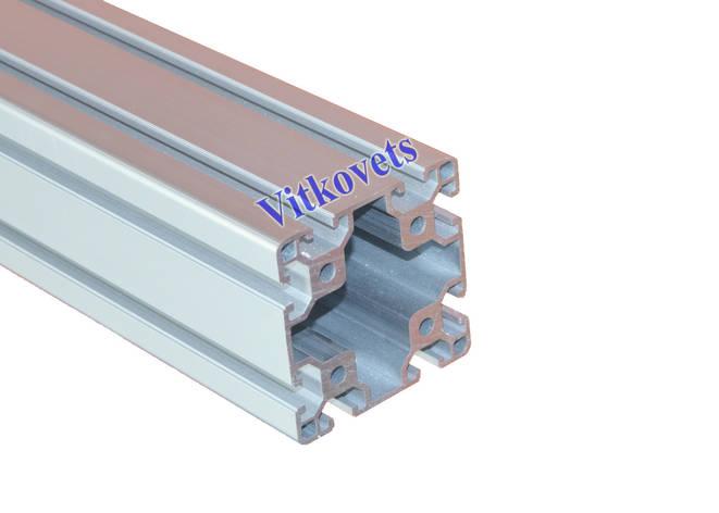 Станочный алюминиевый профиль  80х80 3500мм, фото 2