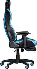 Детское компьютерное кресло Barsky Game Black/Blue BG-01, фото 3