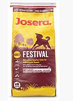 Сухой корм Йозера Фестиваль Josera Festival для собак с уткой и лососем 15 кг