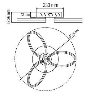 Светодиодная LED люстра AVANGARD-24-BLACK, фото 2