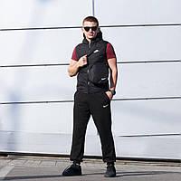 Жилетка осенне-весенняя мужская Nike New, цвет черный