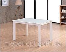 Стол стеклянный Helen DF2086T белый (super white ультра белый), металлический каркас 1200(+500) х 800 х 770 H, фото 2