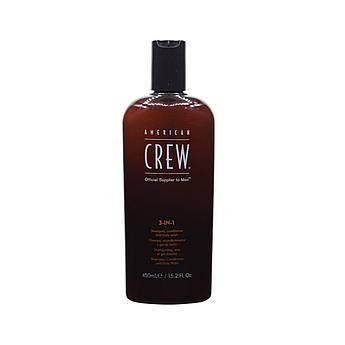 Засіб 3-в-1 American Crew по догляду за волоссям і тілом 450 мл