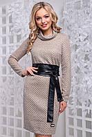 Платье 12-1017-1- кофейный: М L XL XXL, фото 1