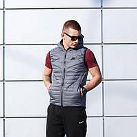 Жилетка осенне-весенняя мужская Nike New, цвет серый