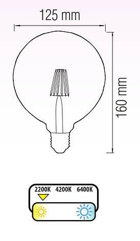 Светодиодная лампа RUSTIC TWIST-6, фото 2