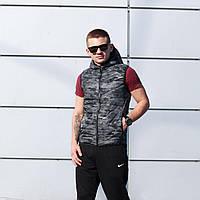 Жилетка осенне-весенняя мужская Nike New, цвет камуфляж