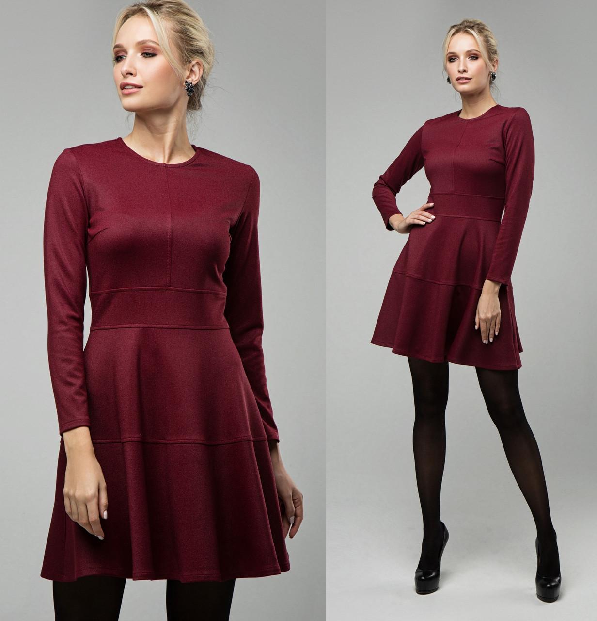 Офисное платье женское трикотажное с люрексом