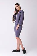 SEWEL Вязаный костюм SC469 (42-44, фиолетовый, 75% акрил/ 15% полиамид/ 10% шерсть)