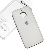 Cиликоновый чехол на Moto E4 Plus Soft-touch Beige